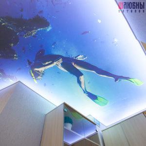 Арт потолок с подсветкой в Гомеле фото