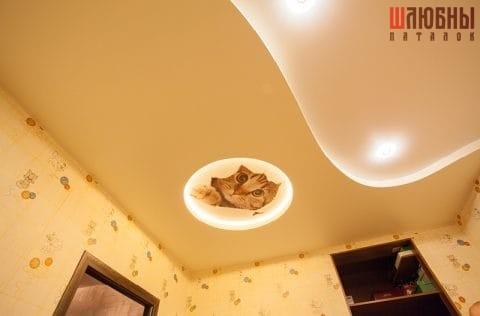Двухуровневый потолок c фотопечатью в детскую в Гомеле фото