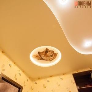 Двухуровневый потолок c фотопечатью в детскую в Гомеле фото 2