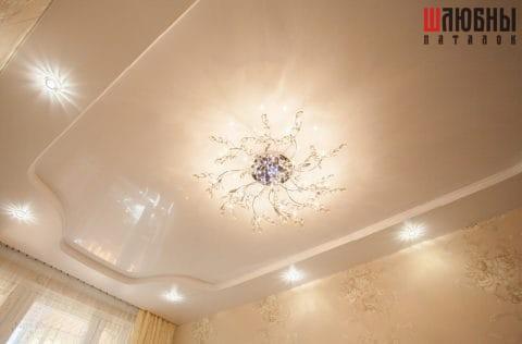 Двухуровневый потолок в спальню в Гомеле фото 2