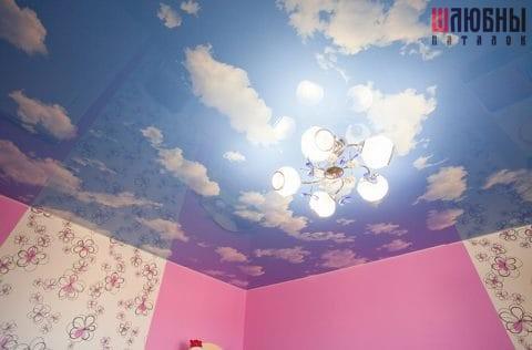 Эксклюзивный потолок в детскую в Гомеле фото