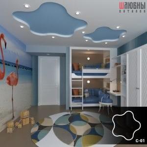 Красивый звездный потолок в детской в Гомеле фото 1